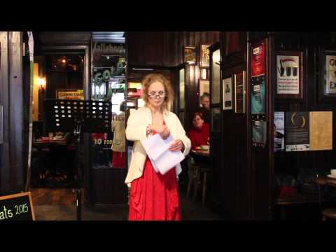 Barbara reading 'In Memory of Eva Gore-Booth and Con Markiewicz' by WB Yeats