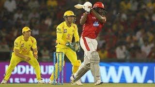 Chris Gayle 63runs in just 33 balls||Kings XI Punjab vs Chennai Super Kings, 12th Match