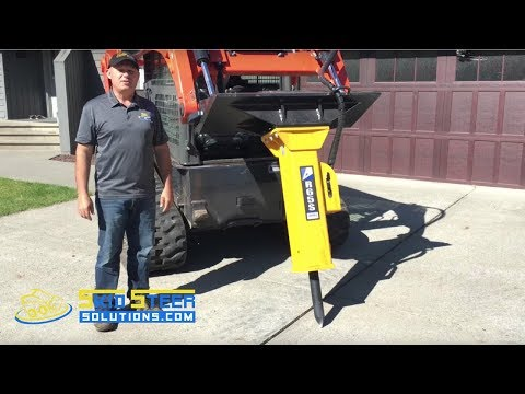 Complete Concrete Driveway Removal Using a Skid Steer