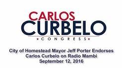Homestead Mayor Jeff Porter & Entire Council Support Carlos Curbelo's Reelection