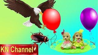 Đồ chơi trẻ em BÚP BÊ KN Channel HƯỚNG DẪN TẠO KHINH KHÍ CẦU BAY TRONG NHÀ BÉ NA
