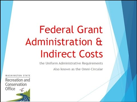 Omni Circular: Federal Accounting Rules