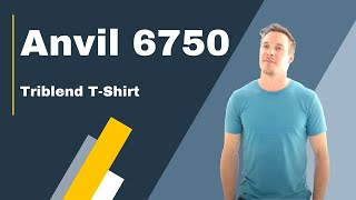 Check out the Anvil 6750 Triblend Crew Neck T-Shirt | Blankapparel.ca
