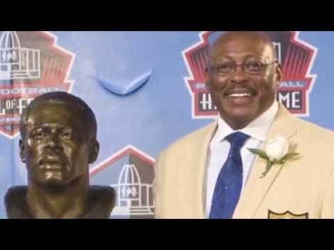 Floyd Little Previews Plaza 44 Statues Unveiling