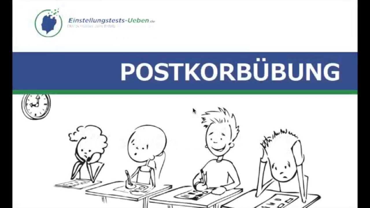 postkorbbung ben einstellungstests uebende der schlssel zum erfolg - Postkorbubung Beispiel