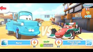 Disney Pixar Cars Fast as Lighting - Tokyo Mater vs Francesco