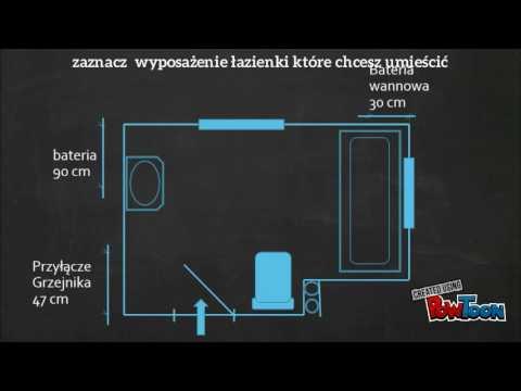 Jak Zwymiarować łazienkę Projekt łazienki Nysa
