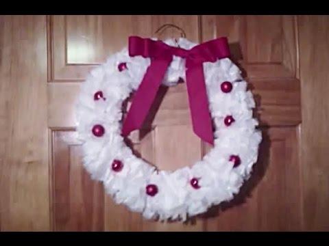 Diy Christmas Plastic Bag Wreath Youtube