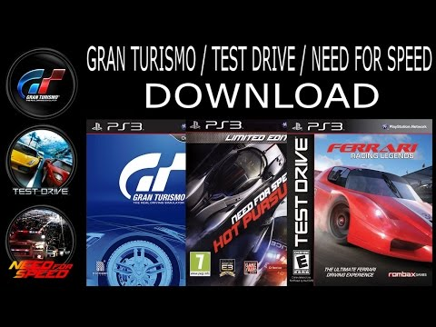 Gran Turismo/Test Drive/Need For Speed PS3 DOWNLOAD. Todos os jogos (15 títulos). PS3 DESBLOQUEADO.