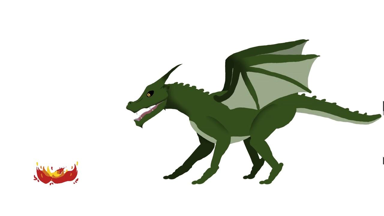 ArtStation - Simple 2D Dragon Animation, Lara Paul