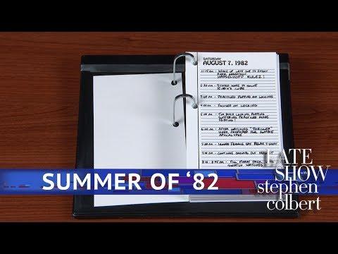 Exhibit A: Brett Kavanaugh's 1982 Calendar