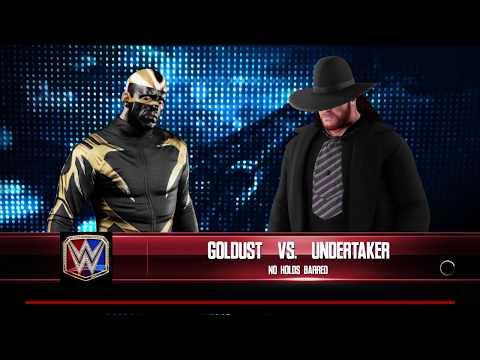 WWE 2K18 Goldust VS Undertaker '91 Requested 1 VS 1 No Holds Barred Match
