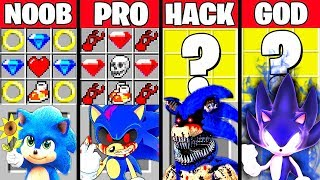 Minecraft Battle: SONIC MUTANT CRAFTING CHALLENGE - NOOB vs PRO vs HACKER vs GOD ~ Funny Animation