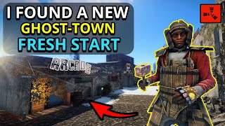 Exploring A NEW Abandoned Town! - FRESH START! - Rust Custom Map Survival Ep1