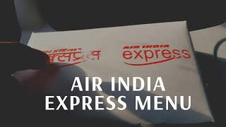 The worst airline FOOD   Air India Express Menu