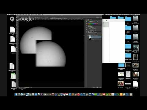 Processing Solar Images in Photoshop-quick and easy