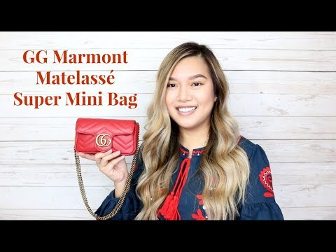 fdd5dda300bb30 REVIEW & WIMB: GUCCI GG MARMONT MATELASSE SUPER MINI - YouTube