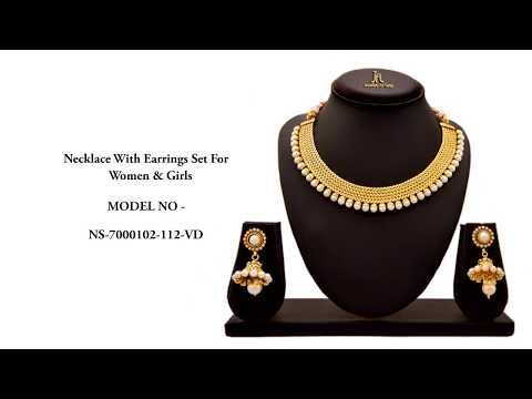 JFL NECKLACE SET Traditional Ethnic One Gram Gold Plated