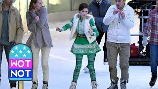 Anna Kendrick on Ice Filming Noelle in Canada
