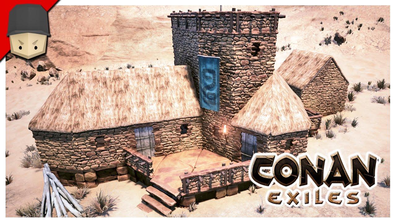 Conan Exiles Small House Tutorial Youtube