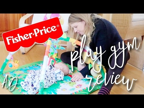 FISHER PRICE ® RAINFOREST™ MUSIC & LIGHTS DELUXE GYM REVIEW #AD