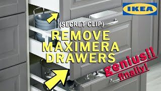 How To Remove Ikea Maximera Drawers.