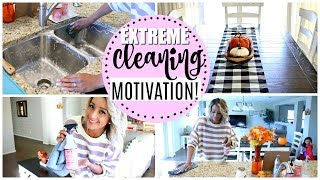 CLEAN WITH ME // EXTREME CLEANING MOTIVATION 2018