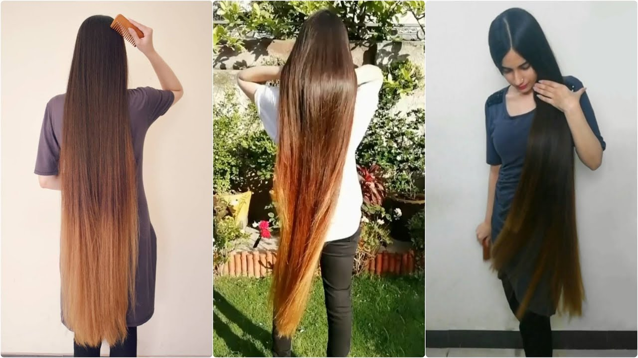 Samiah's Long Straight, Soft and Glossy Hair Play