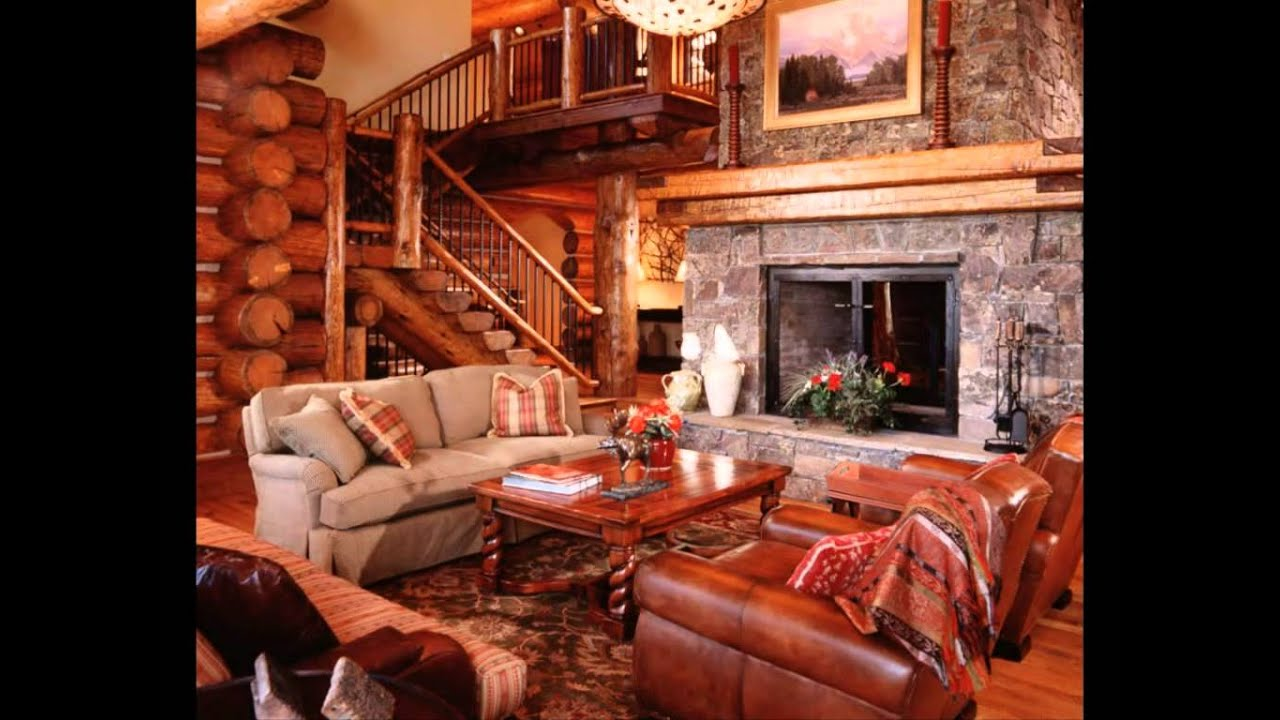 Cabin Living Room Decorating Ideas Wall Decor For India Perfect Log Interior Design Best Your Home Decoration Youtube