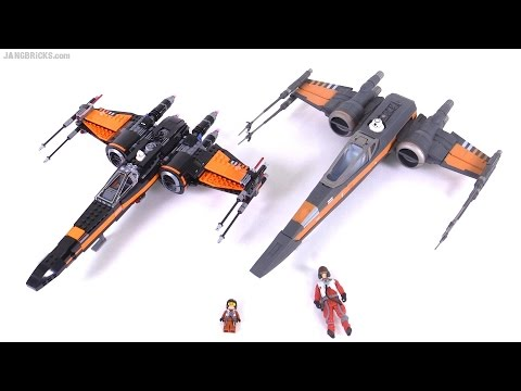 LEGO Vs. Hasbro! Star Wars Force Awakens X-Wing Comparison