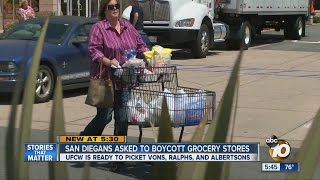 Unions ask San Diegans to boycott Vons, Albertsons and Ralphs