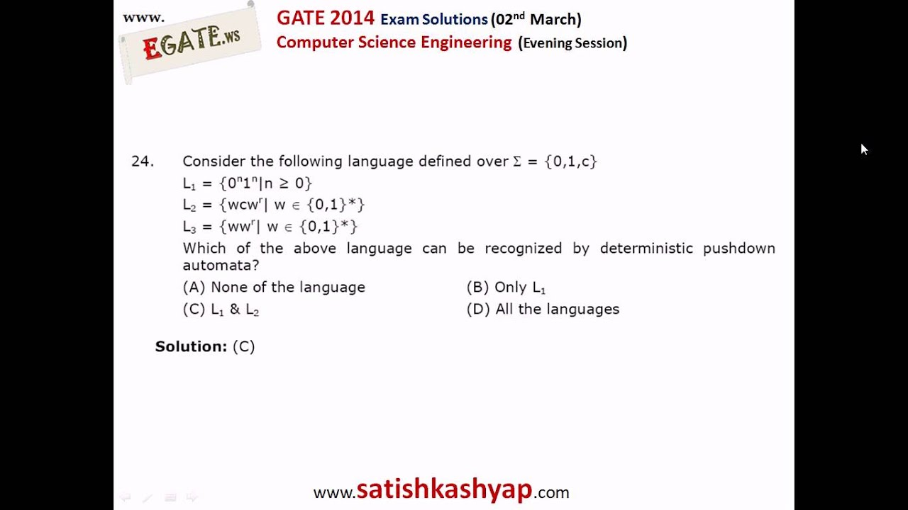 Gate Cse Paper With Answer Key 02 March Evening Session