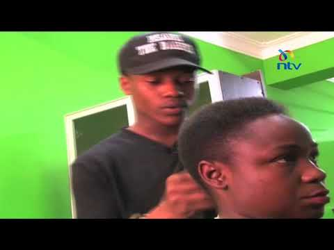 Mombasa old school barbers who use scissors