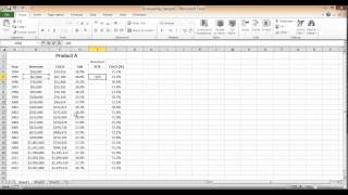 sales growth calculation in excel
