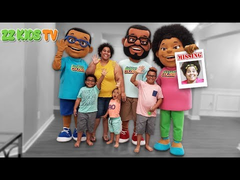 Goo Goo Mom Goes Missing The Movie! ZZ Kids TV Family  Saves Mom