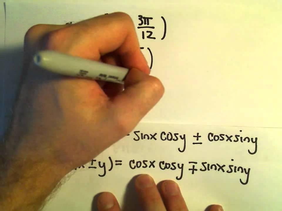 Sum and Difference Identities for Sine and Cosine, More Examples #2 ...