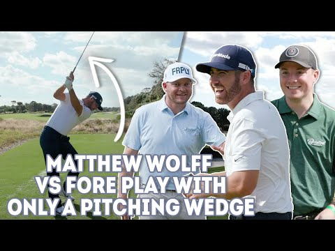 Matthew Wolff vs Fore Play - One Club Challenge, Pitching Wedge - Fore Play Golf