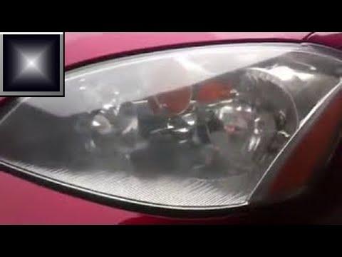 Headlight lens restoration with baking soda DIY
