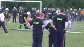 Czwiczenie bojowe OSP Zygry wykonanane podczas zawodów