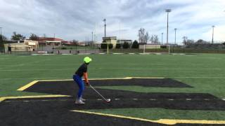 9 year old does amazing golf stunt on a football field because why not