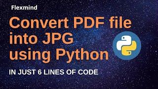 How to convert pdf to jpg using python  Convert pdf to jpg for free  pdf to jpg without internet