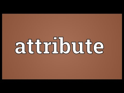 Attribute Meaning