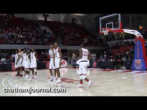 Introduction of Winston-Salem Prep players before start of 2018 1A Basketball Championship Game