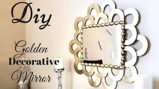 Diy Golden Decorative Wall Mirror Quick and Easy Wall Decorating idea