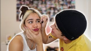 MY BOYFRIEND DOES MY MAKEUP CHALLENGE