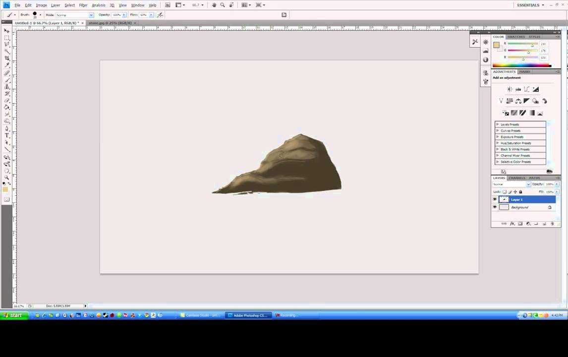 How to draw a rock using textures in photoshop concept art tutorial how to draw a rock using textures in photoshop concept art tutorial youtube baditri Images