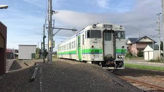 JR札沼線浦臼駅 石狩当別行き発車