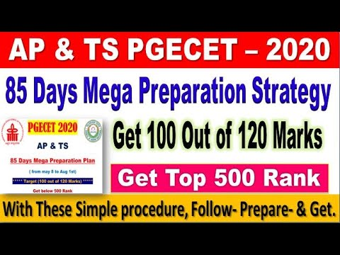 85 Days Preparation Strategy for Cracking PGECET 2020 with Guidance by SRINIVASMech