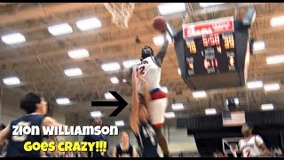 Zion Williamson BAPTIZES Defender + Crazy Block Party!
