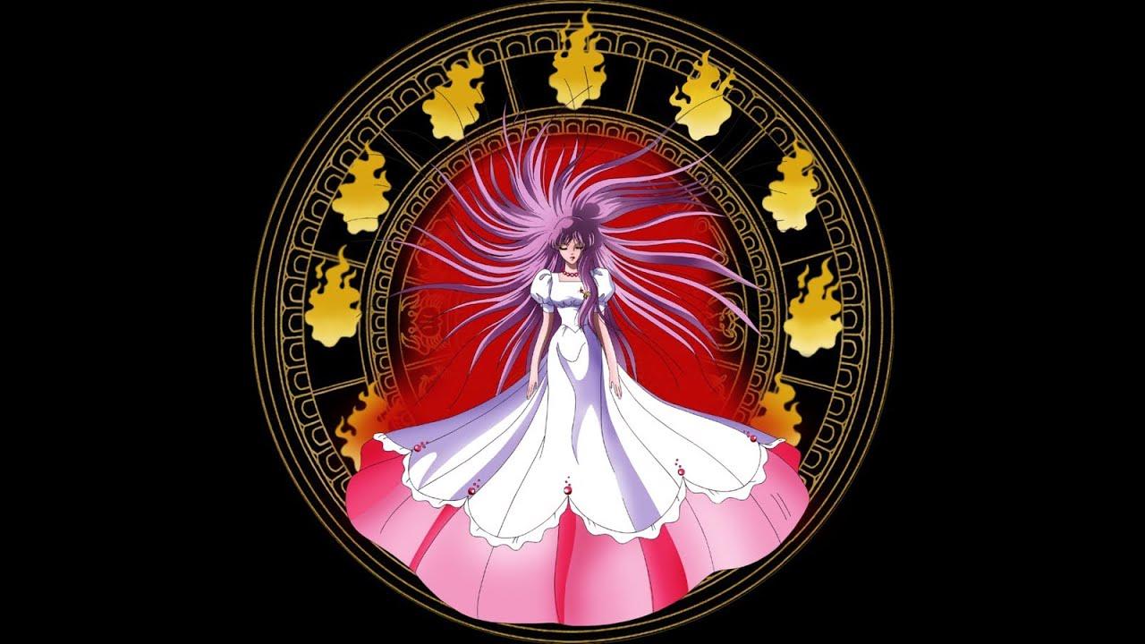Saint Seiya. Saori Kido Sacrifice